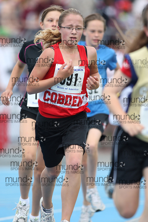 (Ottawa, Ontario---20/06/09)   Taylor Langevin competing in the 1500m at the 2009 Bank of America All-Champions Elementary School Track and Field Championship. www.mundosportimages.com / www.msievents.