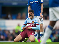 Pablo Fornals of West Ham United after missing a goal scoring opportunity - Mandatory by-line: Jack Phillips/JMP - 19/10/2019 - FOOTBALL - Goodison Park - Liverpool, England - Everton v West Ham United - English Premier League