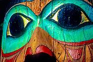 totem face in Totem Bight Park