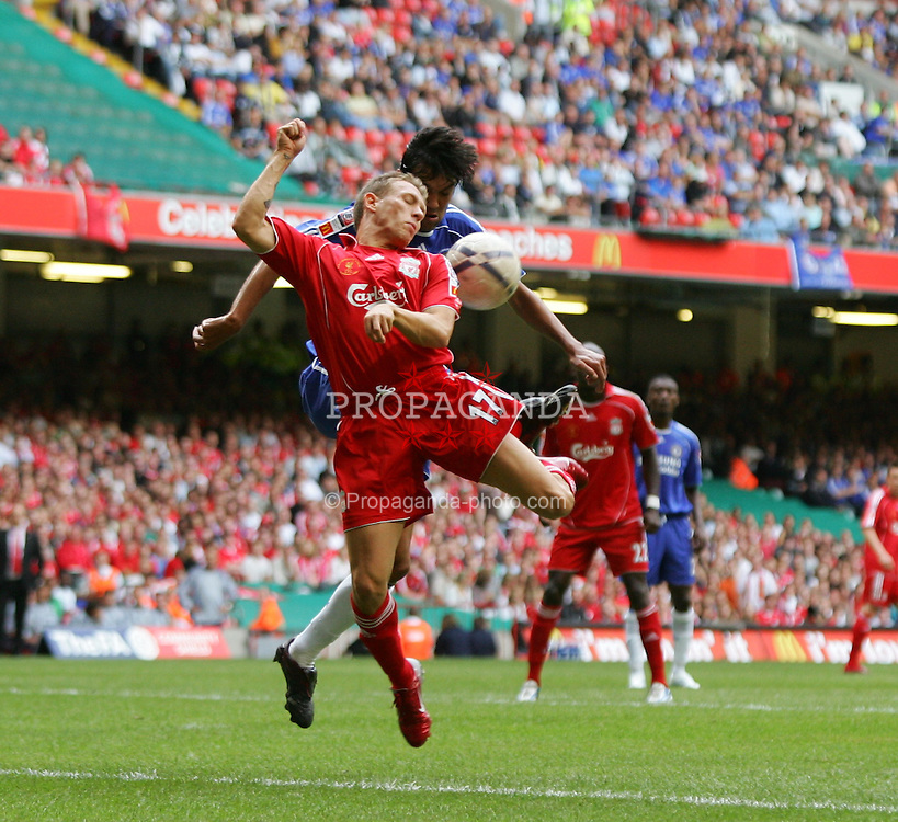 CARDIFF, WALES - SUNDAY, AUGUST 13th, 2006: Liverpool's Craig Bellamy in action against Chelsea during the Community Shield match at the Millennium Stadium. (Pic by David Rawcliffe/Propaganda)