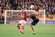 Adam Matthews, Kortney Hause during the Sky Bet Championship match between Wolverhampton Wanderers and Bristol City at Molineux, Wolverhampton, England on 8 March 2016. Photo by Daniel Youngs.