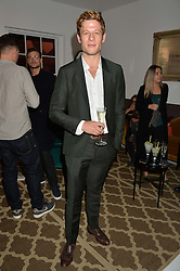 JAMES NORTON at a dinner hosted by Autograph Collection Hotels held at 19 Greek Street, Soho, London on 12th October 2016.