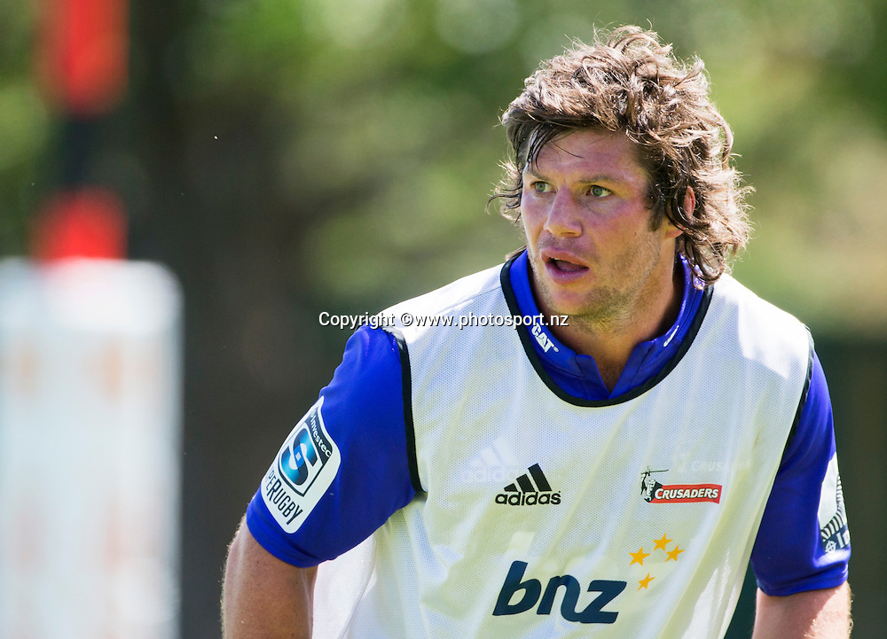 Tim Boys of the Crusaders during Crusaders Training before the Super Rugby season held at Rugby Park. 14 January 2016. Photo: Joseph Johnson / www.photosport.nz