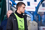Denis Suarez of Arsenal (22) walks out to take his place on the Arsenal bench during the Premier League match between Huddersfield Town and Arsenal at the John Smiths Stadium, Huddersfield, England on 9 February 2019.