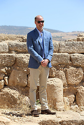 The Duke of Cambridge during a visit the Jerash archaeological site in Jordan.