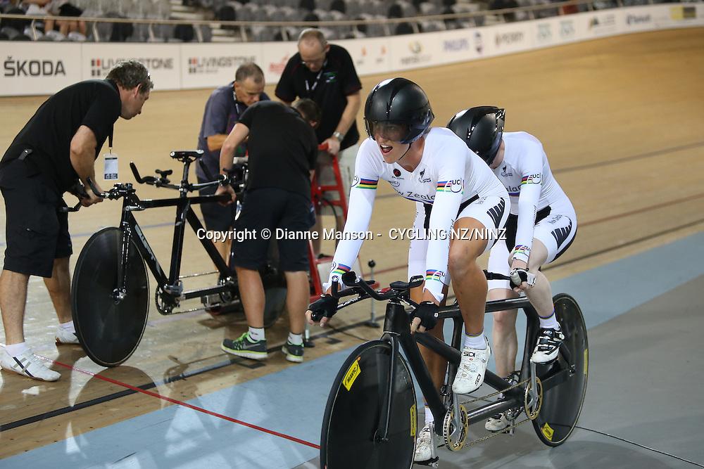 Skoda Elite & U19 Track National Championships at the Avantidrome, Cambridge, New Zealand, Saturday, January 31, 2015. Photo: Dianne Manson /