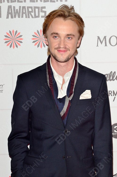 09.DECEMBER.2012. LONDON<br /> <br /> TOM FELTON ATTENDS THE BRITISH INDEPENDENT FILM AWARDS AT OLD BILLINGSGATE MARKET. <br /> <br /> BYLINE: JOE ALVAREZ/EDBIMAGEARCHIVE.CO.UK<br /> <br /> *THIS IMAGE IS STRICTLY FOR UK NEWSPAPERS AND MAGAZINES ONLY*<br /> *FOR WORLD WIDE SALES AND WEB USE PLEASE CONTACT EDBIMAGEARCHIVE - 0208 954 5968*