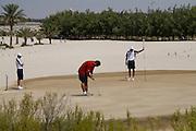 Abu Dhabi, United Arab Emirates (UAE). March 20th 2009.<br /> Al Ghazal Golf Club.<br /> 36th Abu Dhabi Men's Open Championship.<br /> From left to right : Craig Martin, Alex Charawani, and Andrew Marshall