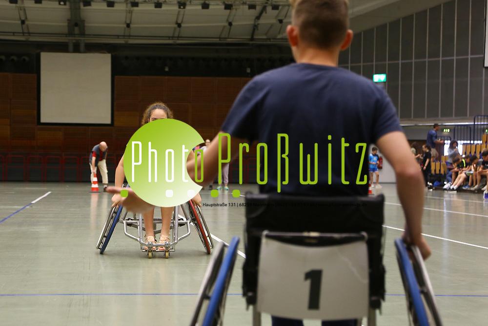 Ludwigshafen. 31.05.17 | Rolli-Sportfest<br /> Ebert Halle. Rolli-Sportfest der Ludwigshafener Schulen in der Eberthalle<br /> - Patrizia Zarbo, Ernst Reuter Schule<br /> <br /> BILD- ID 0026 |<br /> Bild: Markus Prosswitz 31MAY17 / masterpress (Bild ist honorarpflichtig - No Model Release!)