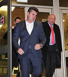 © Licensed to London News Pictures. 11/01/2018. London, UK. Disgraced former BHS owner DOMINIC CHAPPELL leaves Brighton Magistrates Court where he has been found guilty of failing to provide vital documents to the pensions watchdog after he bought the retail chain BHS from Sir Philip Green. Chappell bought BHS from billionaire Sir Philip for £1 back in 2015 before it crashed months later leaving a pensions black hole. Photo credit: Hugo Michiels/LNP