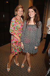Left to right, NICKY GRANVILLE and her daughter ALI GRANVILLE at an evening of private shopping in aid of Elizabeth Fitzroy Support at Tiffany & Co, 145 Sloane Street, London on 14th May 2008.<br />