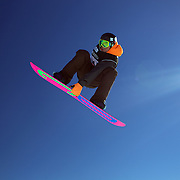 Maximillian Preissinger, Germany, in action during the Snowboard Slopestyle Men's competition at Snow Park, New Zealand during the Winter Games. Wanaka, New Zealand, 21th August 2011. Photo Tim Clayton