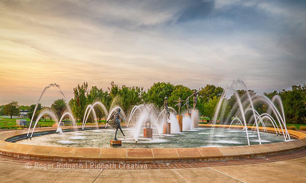 Children's Fountain bronze color HDR