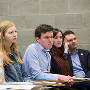 14.01.2017           <br /> In one of his last public engagements as United States Ambassador to Ireland Kevin F O'Malley addressed All-Ireland Scholarship-recipients participating in a workshop of the Washington Ireland Program hosted by the University of Limerick. Picture: Alan Place