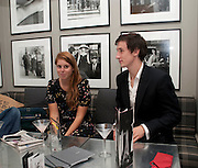 PRINCESS BEATRICE; ANDRE DE HAES, Diana Donovan, Olga Polizzi, Stuart Johnson host a cocktail reception to celebrate the publication of a Monograph of the Donovan Bar Photographs in the Donovan Bar at Brown's Hotel. Albermarle St. London. 8 September 2009.