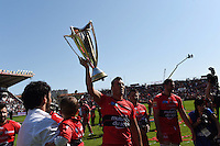 Presentation du Trophee aux Supporters / Virgile Bruni- 09.05.2015 - Toulon / Castres  - 24eme journee de Top 14 <br />