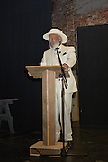 Writer and Civil rights icon James Meredith receives the first ever Mississippi Writers Guild Lifetime Achievement Award Saturday August 1st, 2015 in Oxford Mississippi.  Photo © Suzi Altman
