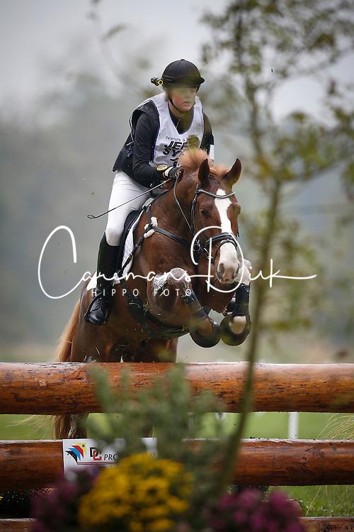 Eriksen Cecile (DEN) - Calvin<br /> FEI World Championship Young Eventing Horses <br /> Mondial du Lion - Le Lion d'Angers 2013<br /> © Dirk Caremans