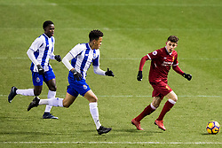 LEIGH, ENGLAND - Wednesday, February 28, 2018: Liverpool's Adam Lewis during the Under-23 FA Premier League International Cup Quarter-Final match between Liverpool and FC Porto at Leigh Sports Village. (Pic by Paul Greenwood/Propaganda)