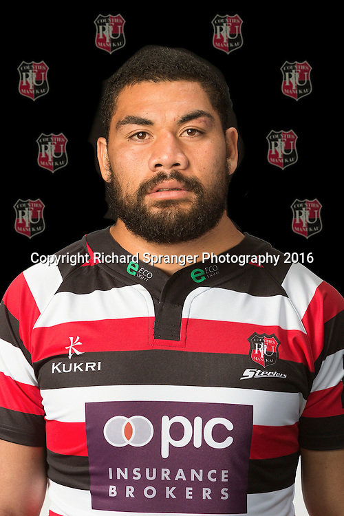 Maama Vaipulu.<br /> Headshots of the Counties Manukau Steelers rugby team to compete in the 2016 season of the Mitre 10 Cup Premiership.<br /> Photo credit: www.boprugby.co.nz