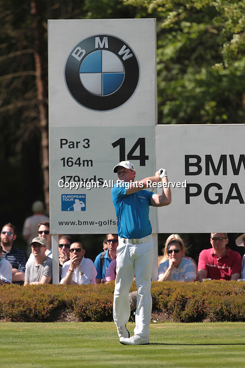 25.05.2012 Wentworth, England. Jamie Donaldson (WAL) in action during the BMW PGA Championship, second round.