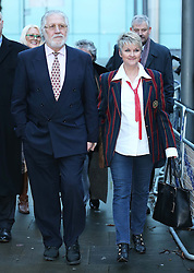 Dave Lee Travis and his wife Marianne Griffin leaving Southwark Crown Court in London after the jury failed to reach a verdict again on Wednesday, 12th February 2014. Picture by Stephen Lock / i-Images