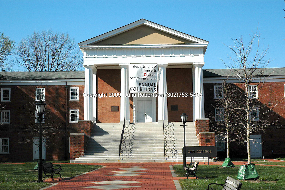 Old College Building on the University of Delaware Campus, Newark Delaware