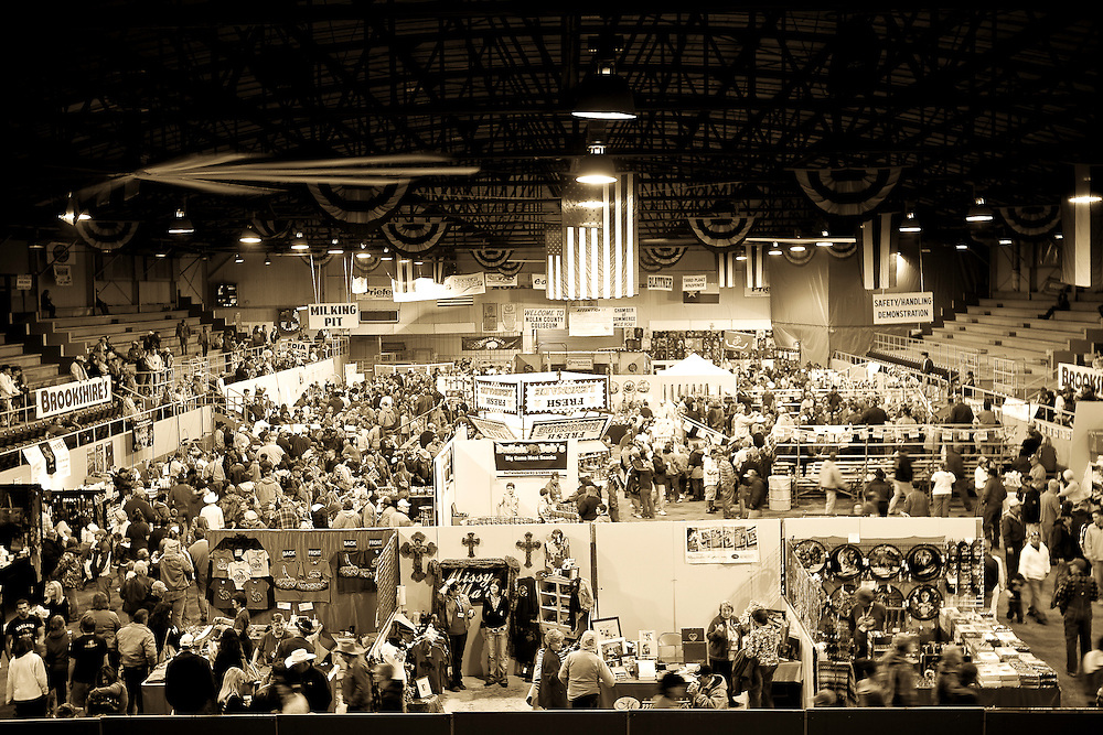 Crowds flock to the 51st annual Worlds Largest Rattlesnake Round-up at the Nolan County Coliseum in Sweetwater, Texas, on Saturday, March 14, 2009.