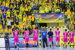 RK Celje players during handball match between RK Celje Pivovarna Lasko and THW Kiel in Group Phase A+B of VELUX EHF Champions League, on November 19, 2017 in Arena Zlatorog, Celje, Slovenia. Photo by Ziga Zupan / Sportida