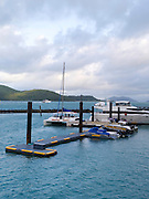 The harbor at Daydream Island; Whitsunday Islands, QLD, Australia