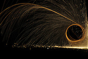 glowing spark spiral