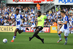 Anthony Grant of Peterborough United clears from Ellis Harrison and Tom Nichols of Bristol Rovers - Mandatory by-line: Neil Brookman/JMP - 12/08/2017 - FOOTBALL - Memorial Stadium - Bristol, England - Bristol Rovers v Peterborough United - Sky Bet League One
