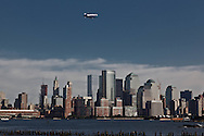 New York. lower Manhattan skyline , Hudson river, view from Hoboken and New Jersey  New York - United states  /  le skyline de Manhattan Dowtown, l Hudson river, vue depuis Hoboken New Jersey  New York - Etats-unis