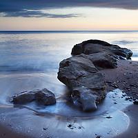 Rocks on Castle Sands before Dawn St Andrews Fife Scotland