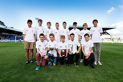 Players from Thornbury Town FC pose with their trophies after winning the Avon Youth League Cup - Mandatory byline: Rogan Thomson/JMP - 07966 386802 - 12/09/2015 - FOOTBALL - Memorial Stadium - Bristol, England - Bristol Rovers v Accrington Stanley - Sky Bet League 2.