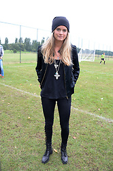 CRESSIDA BONAS at the Ripley Football Tournament hosted by Irene Forte in aid of The Samaritans held at Ryde Farm, Hungry Hill Lane, Ripley, Surrey on 14th September 2013.  After the football guests enjoyed an after party.