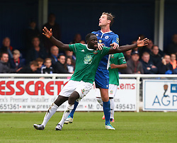 October 7, 2017 - Billericay, England, United Kingdom - Dave Diedhiou of Hendon FC .during Bostik League Premier Division match between Billericay Town against Hendon FC at New Lodge Ground, Billericay on 07 Oct 2017  (Credit Image: © Kieran Galvin/NurPhoto via ZUMA Press)