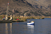 Uros Floating Islands (Las Islas Flotantes)  Lake Titicaca  Peru