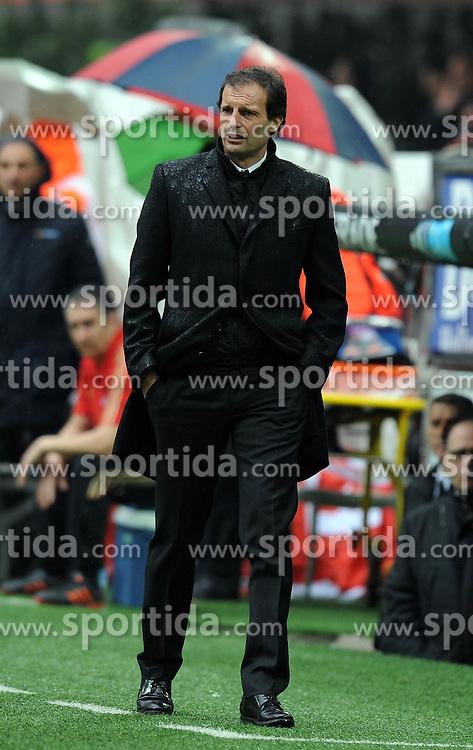 13.03.2011, Stadio Meazza, Mailand, ITA, Serie A, AC Milan vs Bari, im Bild Massimiliano Allegri Milan., EXPA Pictures © 2011, PhotoCredit: EXPA/ InsideFoto/ Nicolo Zangirolami *** ATTENTION *** FOR AUSTRIA AND SLOVENIA USE ONLY!