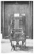Execution by electric chair, Sing Sing Prison, New York, USA. The Death Chair.  From 'The Royal Magazine', London, c1900.