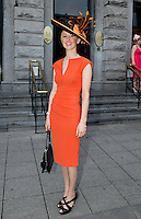Fiona Cuddy  from Roscommon at Hotel Meyrick on Ladies Day of the Galway Races,  for a best dressed competition, sponsored by Brown Thomas Galway, hosted by RTE's  Republic of Telly Star Jennifer Maguire. Photo:Andrew Downes. Photo issued with Compliments, no reproduction fee on first publication.