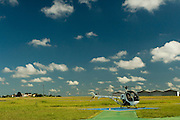 Belo Horizonte_MG, Brasil...Helicoptero em uma pista de pouso...Helicopter in the runway...FOTO: BRUNO MAGALHAES /  NITRO