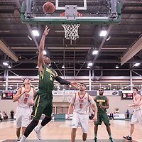 4th year guard Brandon Tull (5) of the Regina Cougars during the 5th year night on February  11 at Centre for Kinesiology, Health and Sport. Credit: Casey Marshall/Arthur Images