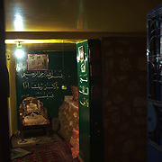 Habiba is using the basement room of her flat as a space for prayer.