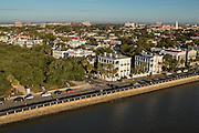 Aerial view of the Battery Charleston, South Carolina.