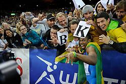 30.08.2012, Stadion Letzigrund, Zuerich, SUI, Leichtathletik, Weltklasse Zurich 2012, im Bild Sieger Yohan Blake (JAM), 100m Maenner // during Athletics World Class Zurich 2012 at Letzigrund Stadium, Zurich, Switzerland on 2012/08/30. EXPA Pictures © 2012, PhotoCredit: EXPA/ Freshfocus/ Valeriano Di Domenico..***** ATTENTION - for AUT, SLO, CRO, SRB, BIH only *****