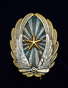 Japanese pilot's graduation badge, vintage WWII.  Private collection.
