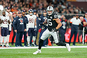 Derek Carrier (TE) of the Oakland Raiders in action during the International Series match between Oakland Raiders and Chicago Bears at Tottenham Hotspur Stadium, London, United Kingdom on 6 October 2019.