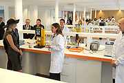Koningin Máxima opent het FrieslandCampina Innovation Centre in Wageningen. In dit nieuwe centrum brengt het zuivelbedrijf het merendeel van hun onderzoeks- en ontwikkelingsactiviteiten samen. <br /> <br /> Queen Máxima opens FrieslandCampina Innovation Centre in Wageningen. This new center the dairy spends most of their research and development together.<br /> <br /> Op de foto / On the photo:  Koningin Máxima krijgt een rondleiding door het FrieslandCampina Innovation Centre / Queen Máxima gets a tour of the FrieslandCampina Innovation Centre