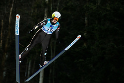 Lucile Morat of France soaring through the air during 1st Round at Day 1 of World Cup Ski Jumping Ladies Ljubno 2019, on February 8, 2019 in Ljubno ob Savinji, Slovenia. Photo by Matic Ritonja / Sportida